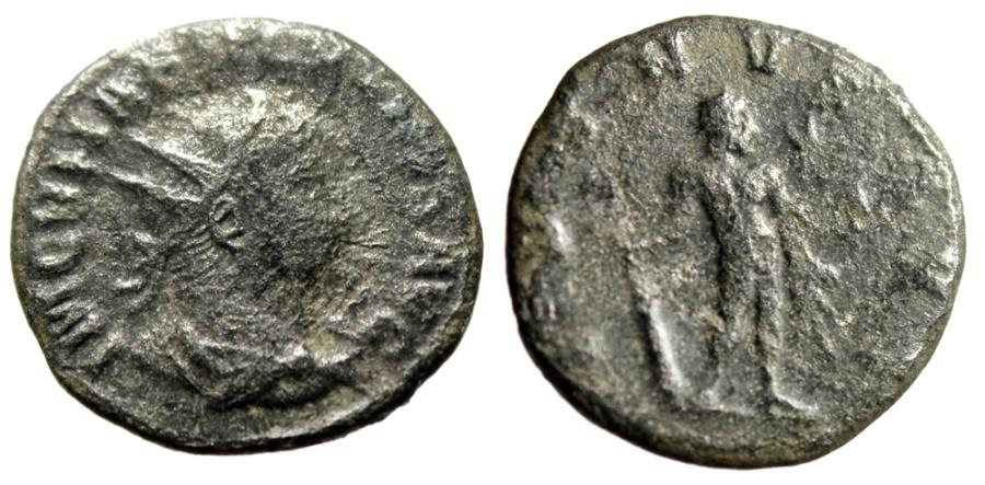"""Ancient Coins - Vabalathus Antoninianus """"IVENVS AVG Hercules, Star Right"""" Antioch RIC 4 Var Rare"""