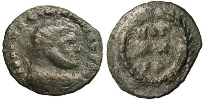 """Ancient Coins - Maximian AE Radiate """"VOT XX FK"""" Carthage Mint RIC 37b"""