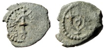 "Ancient Coins - Judean Kingdom: Herod I The Great AE Prutah ""Anchor & Double Cornucopiae"" aVF"