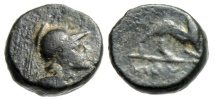"Ancient Coins - Lycia, Myra AE10 ""Athena Right & Stag Kneeling"" Extremely Rare"