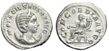 "Ancient Coins - Otacilia Severa (Wife Philip I) Antoninianus ""Concordia Seated"" 244-249 AD UNC"