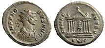 """Ancient Coins - Probus AE Antoninianus """"ROMAE AETER Roma in Temple, Crescent"""" RIC 185 EF"""