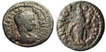 "Ancient Coins - Gordian III AE22 ""Tyche Standing"" Ionia, Metropolis Mint BMC 17 Rare"