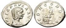 "Ancient Coins - EF Julia Paula Silver AR Denarius ""Concordia HARMONY"" Rome RIC 6a"