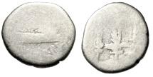 "Ancient Coins - Marc Antony Legionary Denarius ""Praetorian Galley & Standards, Eagle"" Budget"