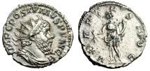 "Ancient Coins - Postumus Silver Antoninianus ""VBERITAS AVG Uberitas"" Trier 267 AD RIC 330 VF"