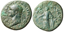 "Ancient Coins - Domitian as Caesar AE As ""Pax Standing"" RIC 693 Very Rare"