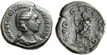 """Ancient Coins - Otacilia Severa AE Sestertius """"Pudicitia Seated"""" Rome 245 AD RIC 209a gVF"""