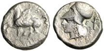 "Ancient Coins - Corinthia, Corinth AR Stater ""Pegasus & Athena in Corinthian Helmet, Torch"""
