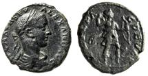 """Ancient Coins - Severus Alexander AE23 """"Artemis Hunting With Hound"""" Thrace, Deultum aVF"""