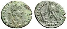 """Ancient Coins - Gratian AE2 """"REPARATIO REPIVB Retoration of the Republic"""" Rome RIC 43a EF"""
