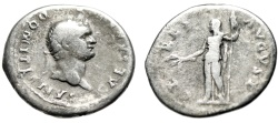 "Ancient Coins - Domitian Caesar Silver Denarius ""CERES AVGVST Ceres"" Rome RIC 976 (Vespasian)"