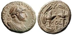 "Ancient Coins - Hadrian AE23 ""Two Legionary Aquilae in Wreath COL BER"" Phoenicia Berytus"