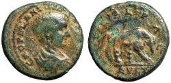 "Ancient Coins - Diadumenian AE24 of Deultum in Thrace ""She-Wolf, Romulus & Remus"""