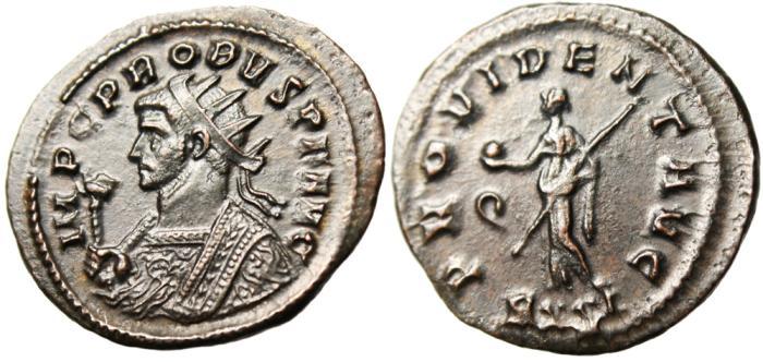 """Ancient Coins - Probus AE Antoninianus """"Providentia"""" Ticinum RIC 489 Good VF"""
