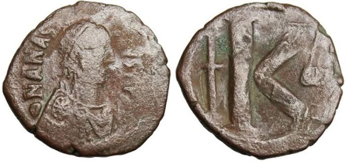 Ancient Coins - Anastasius, AE Half Follis 26mm SCARCE Large Sized Module SB 25