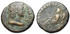 """Ancient Coins - Caria, Aphrodisias Pseudo-Autonomous AE22 """"Senate & River Deity Morsynos"""" Rare"""