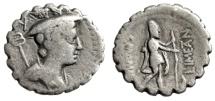"""C Mamilius C F Limetanus Serrated AR Denarius """"Mercury & Ulysses, Dog Argus"""""""