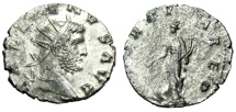 "Ancient Coins - Gallienus Silvered Antoninianus ""FORTVNA RED Fortuna"" RIC 572 Siscia EF"
