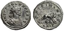 """Ancient Coins - Probus Antoninianus """"ORIGINI AVG She Wolf, Romulus & Remus"""" RIC 703 Rare aEF"""