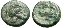 "Ancient Coins - Mysia, Lampsakos AE10 ""Corinthian Helmet & Pegasus"" Rare"