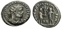 "Ancient Coins - Maximian Silver Billon Radiate ""CONCORDIA MILITVM Jupiter"" Heraclea RIC 14 VF"