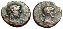 """Ancient Coins - Lycia, Lycian League Autonomous Issue Under Augustus """"Apollo & Artemis Busts"""""""
