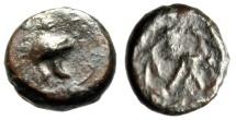 "Ancient Coins - Sicily, Tauromenion, Campanian Mercenaries ""Campanian Helmet & Monogram"" Rare"