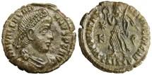 "Ancient Coins - Valentinian I AE 3 ""SECVRITAS REIPVBLICAE Victory"" Siscia VF"