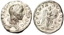 "Ancient Coins - Severus Alexander Silver AR Denarius 'Victory, Shield VOT X"" RIC 218 Scarce VF"