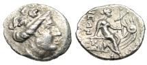 "Ancient Coins - Euboia, Histaia AR Tetrobol ""Nymph on Galley, Star on Galley"" Rare VF"