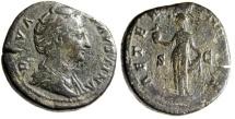 "Ancient Coins - Faustina I Senior AE Sestertius ""Aeternitas With Phoenix Globe"" Rome RIC 1105"