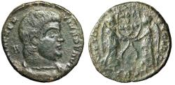 "Ancient Coins - Magnentius AE Centenionalis ""Two Victories, Votive Wreath"" Trier 352 AD RIC 312"
