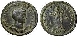 """Ancient Coins - Galeria Valeria (Wife of Galerius) AE Follis """"Portrait & Venus"""" Serdica RIC 41"""