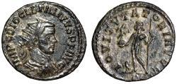 "Ancient Coins - Diocletian Antoninianus ""IOVI TVTORI AVGG Jupiter, Eagle"" Lyons RIC 53 VF"