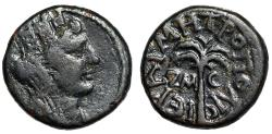 """Ancient Coins - Phoenicia, Tyre AE16 """"Tyche & Palm Tree, ZM-C"""" Dated Year 247 (121/122 AD)"""