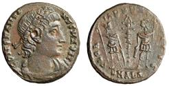 """Ancient Coins - Constantine I The Great AE16 """"GLORIA EXERCITVS Soldiers"""" Alexandria RIC 65 EF"""