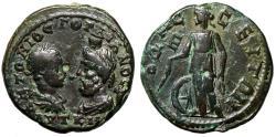 "Ancient Coins - Gordian III & Serapis AE27 ""Nemesis, Wheel & Arshin, Sling"" Odessos Rare gVF"