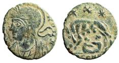 """Ancient Coins - Rome City Commemorative """"Wolf, Romulus & Remus, X Above"""" Arles RIC 25 Very Rare"""