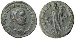 """Ancient Coins - Maximinus II Daia AE Follis """"GENIO IMPERATORIS Genius"""" Heraclea RIC 61 Rare"""