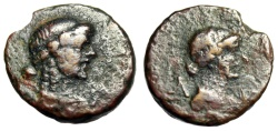 "Ancient Coins - Lycia, Lycian League Autonomous Issue Under Augustus ""Apollo & Artemis Busts"""