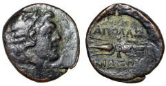 "Ancient Coins - Lydia, Apollonis AE17 ""Young Herakles in Lionskin Headdress & Thunderbolt"""