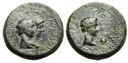 "Ancient Coins - Augustus AE23 ""King Rhoemetalkes I & Queen Pythodoris"" Thrace RIC 1711 Good Fine"