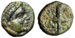 "Ancient Coins - Crete, Aptera AE13 ""Laureate Apollo & Race Torch Aflame""  VF Rare"