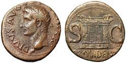 """Ancient Coins - Augustus Posthumous AE Dupondius """"PROVIDENT Altar"""" Rome Mint Under Tiberius VF"""