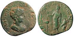 "Ancient Coins - Tranquillina AE30 of Patara, Lycia ""Apollo, Tripod & Raven"" Extremely Rare gVF"