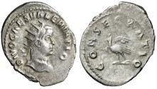 """Ancient Coins - Divus Valerian II Caesar AR Antoninianus """"Great Portrait / Eagle"""" Rome 262 AD"""
