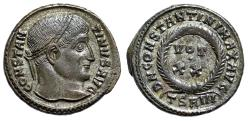 "Ancient Coins - Constantine I The Great AE19 ""Wreath, VOT XX"" Thessalonica 320 AD RIC 101 nEF"