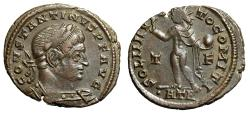 """Ancient Coins - Constantine I The Great Follis """"Sol With Globe"""" Trier RIC 132 Good VF"""