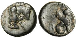 "Ancient Coins - Caria, Kaunos (Caunus) AE12 ""Forepart Bull & Sphinx"" Scarce"
